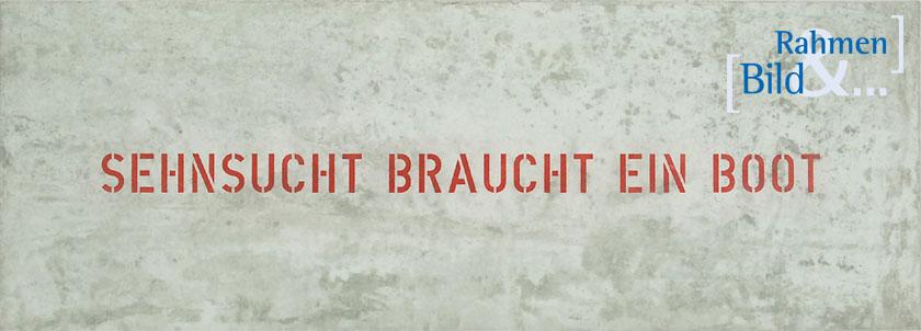 birgit rautenberg sturm sehnsucht braucht ein boot bild und rahmen kiel. Black Bedroom Furniture Sets. Home Design Ideas